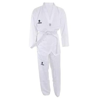 Dobok Strike Taekwondo Alpha Gola Branca Oficial CBTKD Tamanho:120