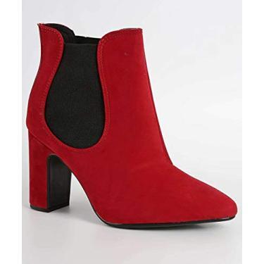 Bota feminina Vizzano vermelho - 3068105