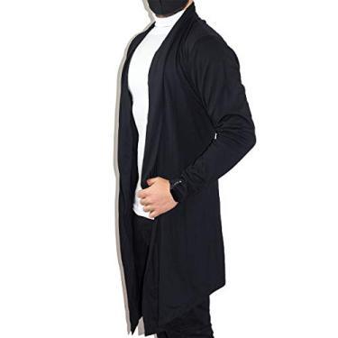 Blusa De Frio Cardigan Masculino Sobretudo Masculino Swag (Preto, M)