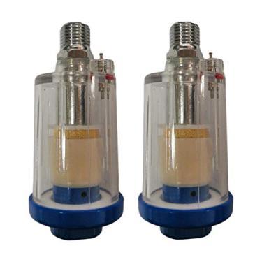 Baoblaze 2x 1/4 '' Filtro Separador de Ar Óleo Água Compressor Separador de Armadilha
