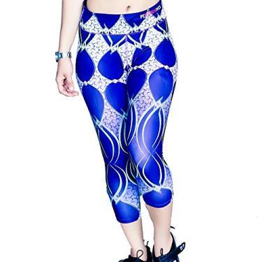 Imagem de PY calça legging feminina capri 3/4, Roxa, XXX-Large