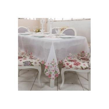 Imagem de Toalha de Mesa Clássica Bordada Jardim 170 x 270 cms - Argivai