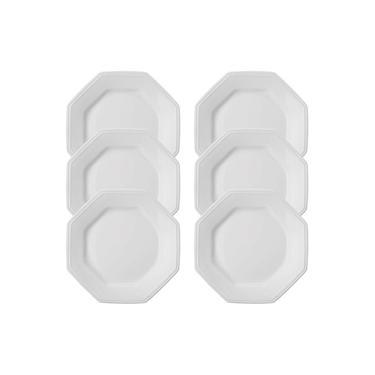 Imagem de Conjunto De Pratos Schimidt Sobremesa De Porcelana Prisma 6 Peças