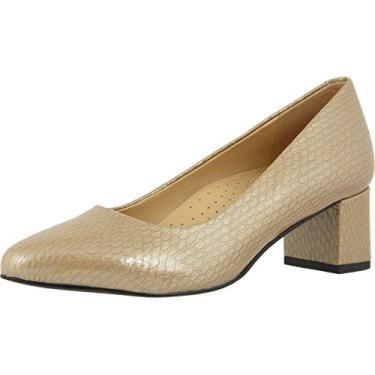 Sapato feminino Kari Pump da Trotters, Taupe, 7.5 XX-Narrow