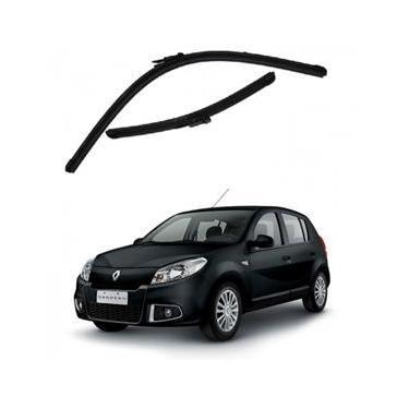 Kit Palhetas Limpador de Parabrisa Dianteiro Renault Sandero Ano 2008 - 2014