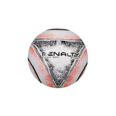 Bola Penalty Storm 500 VIII Futsal Branca e Laranja 58156556f57f6