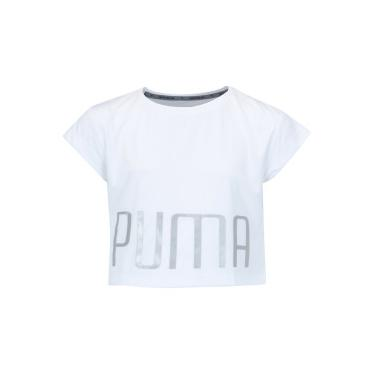 Camiseta Cropped Puma Explosive Tee Feminina - Infantil - BRANCO Puma ca19e590d15ea