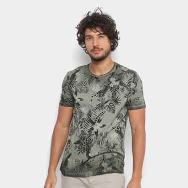 77bf6bd672 Camiseta Replay Ting Floral Masculina - Masculino