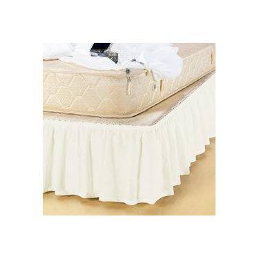 Imagem de Saia Box Pratic Casal Queen Marfim