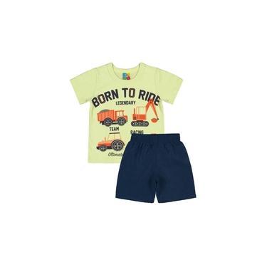 Conjunto Bee Loop Camiseta e Bermuda Born to Ride Verde