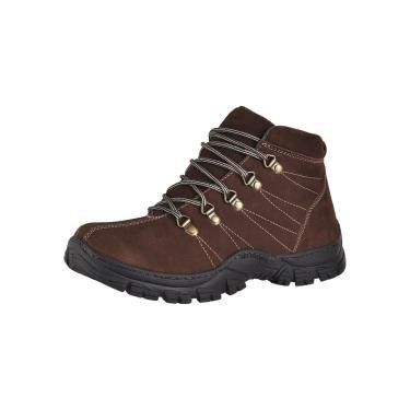 Bota Adventure Couro Nobuck Difranca Boots  1011  Cafe  masculino