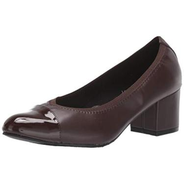 Sapatilha feminina Daryn Pump Soft Style, Dark Brown, 10 X-Wide