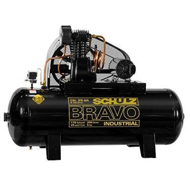 Compressor de Ar Bravo 25 Pés 250 Litros 220/380 V-SCHULZ-CSL25BR/250