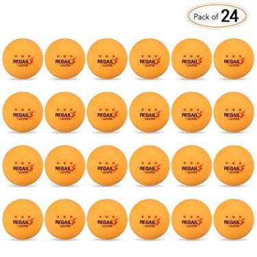 Bolas de pingue-pongue, Andoer Bolas de tênis de mesa 24 unidades 3 estrelas 40 mm Bolas de pingue-pongue Bolas de treino avançado amador