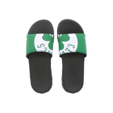 9f9cae6ec0 Chinelo Nike NBA Benassi Solarsoft - Slide - Masculino - PRETO VERDE Nike
