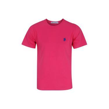 Camiseta Polo US Gola Careca 606TSGCB - Masculina - ROSA AZUL ESC Polo Us 7862b2f4dad46