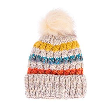 KESYOO Gorro Despojado Plus Veludo Inverno Gorro Simples Quente Protetor Frio, Bege, tamanho �nico