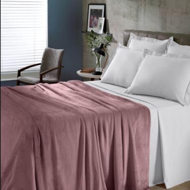 Imagem de Manta Buettner King Microfibra Flannel Comfy Rosa  220 x 240cm