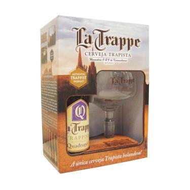 Kit Cerveja La Trappe Quadruppel 1 Grf 330Ml + 1 Taça