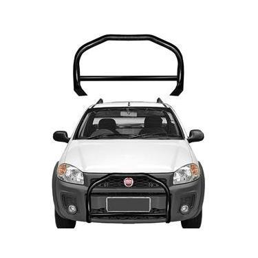 Para-choque de Impulsão Fiat Strada 2014 a 2019 Preto