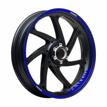 Adesivo Friso Refletivo Roda Moto Yamaha Fazer 250 Azul
