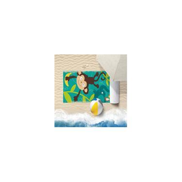 Imagem de Toalha De Praia 60Cm X 1,10M Infantil Anti Areia Macaquinho - Bene Casa