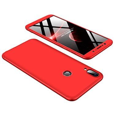 Capa para Asus ZB601KL, YINCANG destacável 3 peças design estrutural fosco combinação de policarbonato rígido fosco capa protetora total para Asus ZenFone Max Pro M1 ZB601KL vermelha