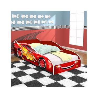 420f60bf0e Cama Carros Sport 96 Solteiro Com Proteção na Lateral - Vermelho