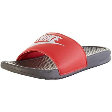 Imagem de Chinelo Nike Benassi JDI Cor:Cinza-vermelho;Tamanho:39.5