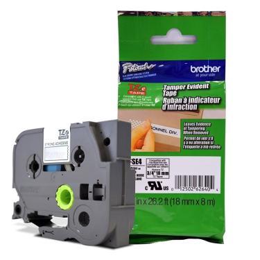 Fita de Segurança p/ Rotulador Brother TZeS-E4 18mm