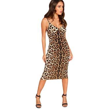 Floerns Vestido feminino com estampa de pele de cobra mini Cami Bodycon, Multi-midi, Small