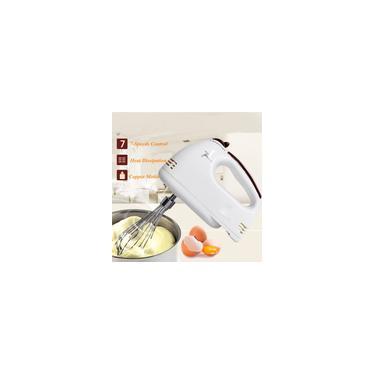 Imagem de Batedeira de mão Elétrica Liquidificador de Alimentos 7 Velocidade Ajustar Batedor de Ovos Duplo Batedor de Massa Batedor Processador de Alimentos Cozinha Bolo Mixer