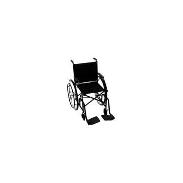 Imagem de Cadeira de Rodas cds Dobrável Modelo 101 Adulto com Braços Fixos, Pedais Fixos, Freios Bilaterais, Pneus Maciços