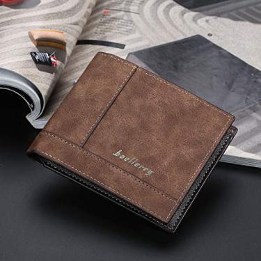 Eastdall Portátil,Carteiras bifold masculinas de couro pu titular do cartão de crédito vintage bolso bolsa carteira para negócios casuais