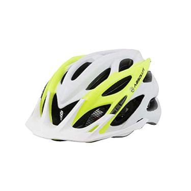 Capacete Ciclismo Bike Absolute Wild Mia Led Pisca Viseira Branco Amarelo Fosco