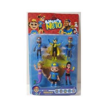 Kit 6 bonecos Os Aventureiros Luccas Neto