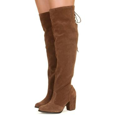 ae8194c293 Bota Taquilla Over The Knee Caramelo feminino