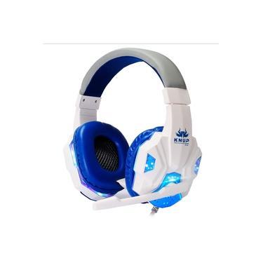 Fone Gamer KNUP KP-397 + Adaptador para ps4 Headfone Headset Gamer Pc para Celular Notebook tablet - Branco