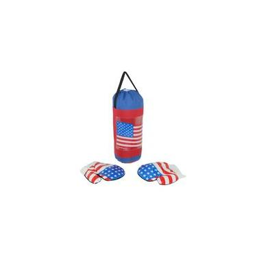 Kit Boxe Infantil American com Saco de Pancada e Luvas