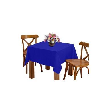 Imagem de Toalha de mesa 4 Lugares 1,45m Quadrada Oxford Azul Royal