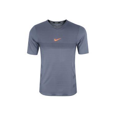 a832644e1a Camiseta Nike AeroReact Top SS - Masculina - CINZA ESCURO Nike