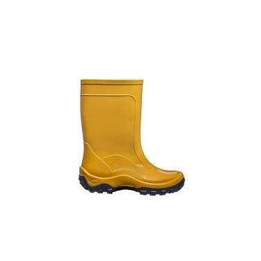 e33313b72f1 Bota Galocha Infantil Calfor Nieve Amarelo