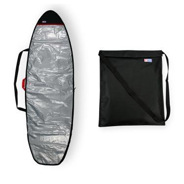 Capa Prancha Surf/Fish Refletiva 5'8 A 5'11 com Wetsuit Bag