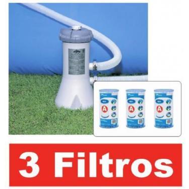 Bomba Filtrante Intex 2006 LH 110v com 03 cartuchos refil filtro (2 +