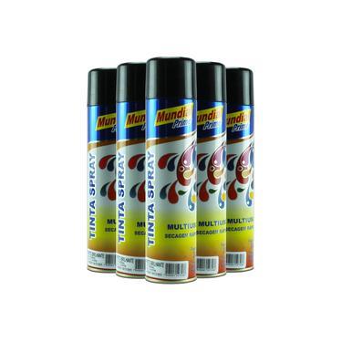 Tinta Spray Preto Brilhante 400ml - Mundial Prime