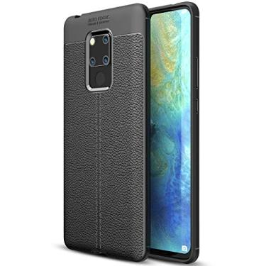 SCIMIN Capa para Huawei Mate 20 X, capa de couro sintético para Huawei Mate 20 X, capa macia antiderrapante de TPU para Huawei Mate 20 X de 7,2 polegadas
