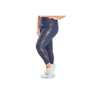 Calça Legging Icon Lux Plus Size - azul
