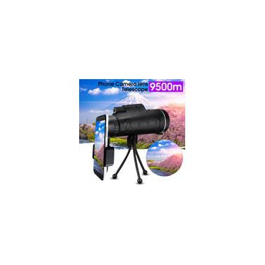 40X60 HD Telescópio monocular ao ar livre BAK4 Prism Night Vision + Phone Clip Tripod