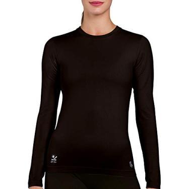 Camiseta,Proteção UV,Lupo,feminino,Preta,P
