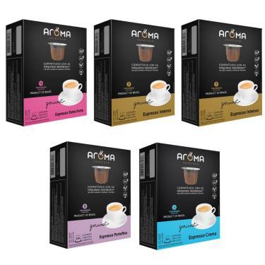 Imagem de Kit 50 Cápsulas Para Nespresso Cápsula Café Aroma